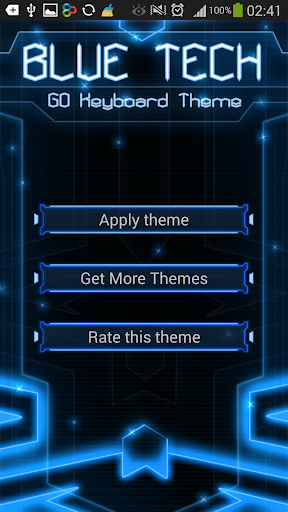GO Keyboard Blue Tech Theme