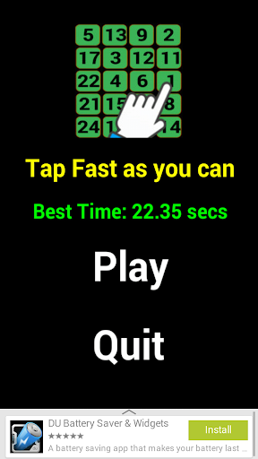 Tap as fast as you can