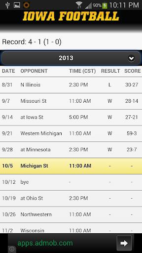 Iowa Hawkeye Football Schedule