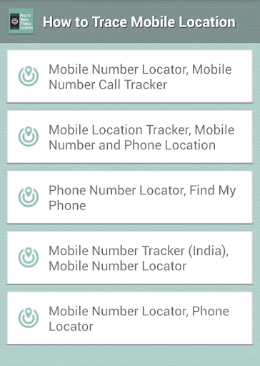 how to Trace Mobile Location