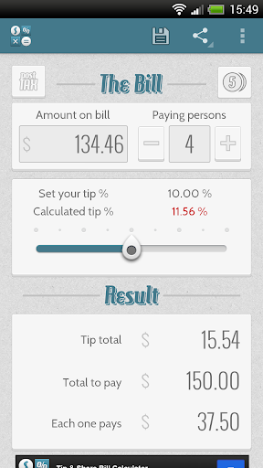 Tip Share Bill Calculator