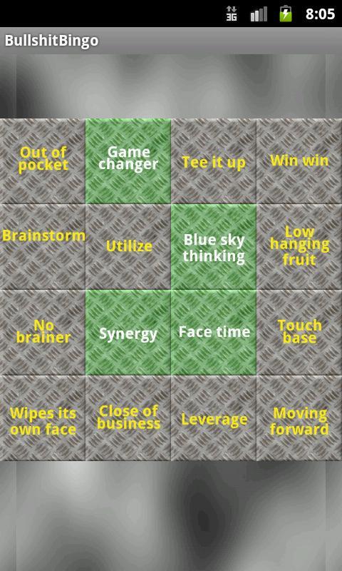 Bullshit Bingo- screenshot