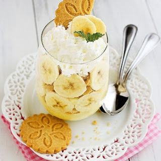 Mini Banana Pudding Trifles with Shortbread Cookies Recipe