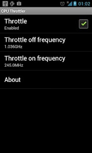 SET CPU Throttler (Root Users)- screenshot thumbnail