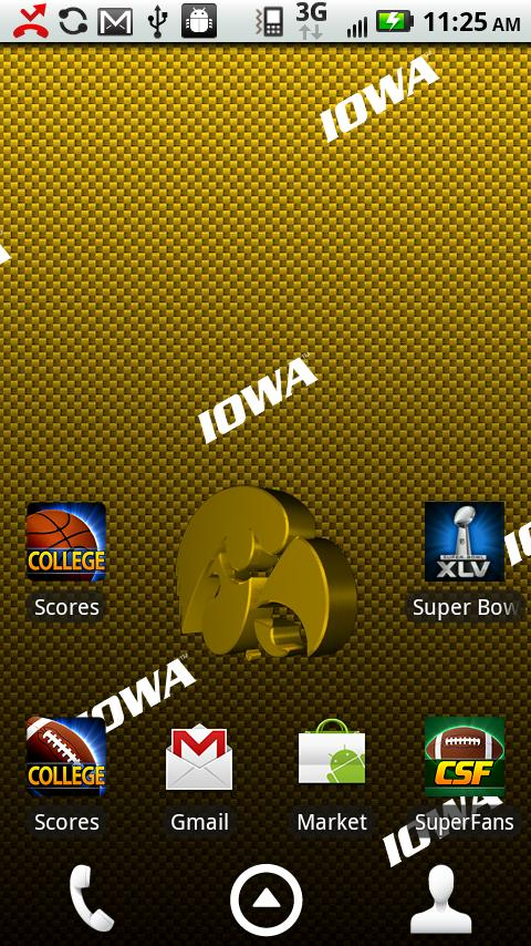 Iowa Hawkeyes Live Wallpaper (Android