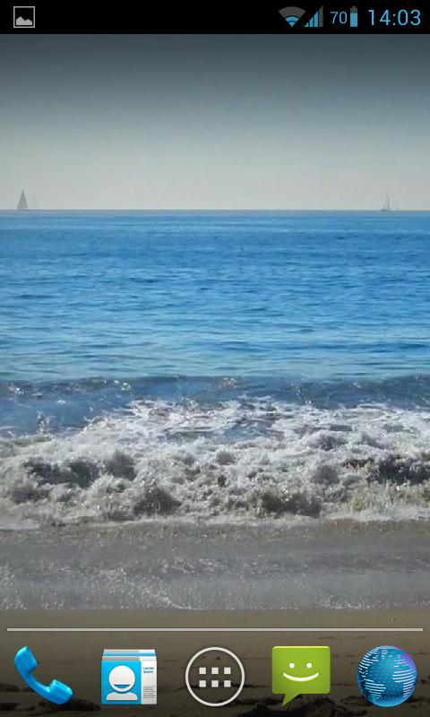 Blue Waves Live Wallpaper HD- screenshot