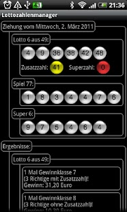 Lottery numbers manager- screenshot thumbnail