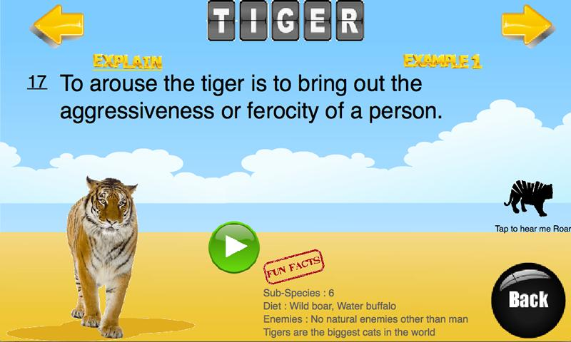 123 Animal Metaphors & Idioms - screenshot