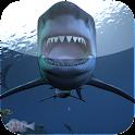 shark attack wallpaper logo