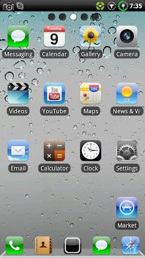 iPHONE RETINA GO Launcher EX v1.06