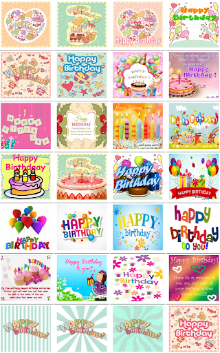 Happy Birthday e-Card Stickers