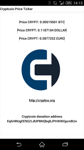 Cryptcoin CRYPT price ticker