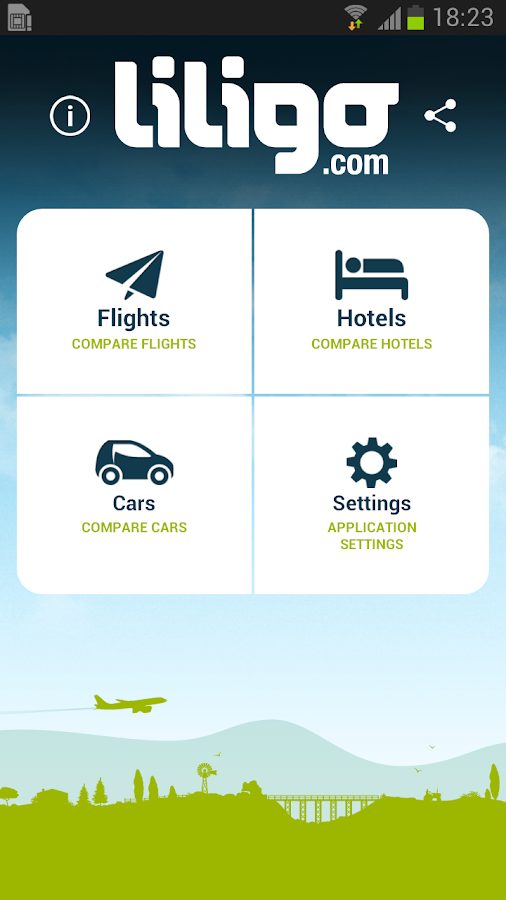 Liligo flight and hotel search - screenshot