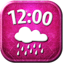 Pink Clock Weather Widget icon