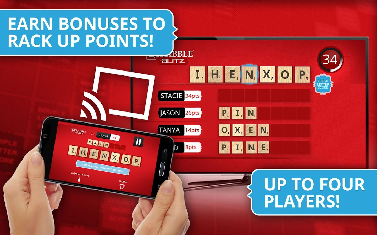 SCRABBLE Blitz for Chromecast- screenshot