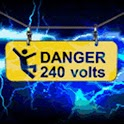 Blue Lightning Danger 240 Volt logo