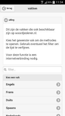 miniTeach (woordjesleren.nl) - screenshot