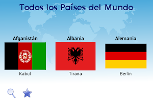 Screenshot of Countries and Flags