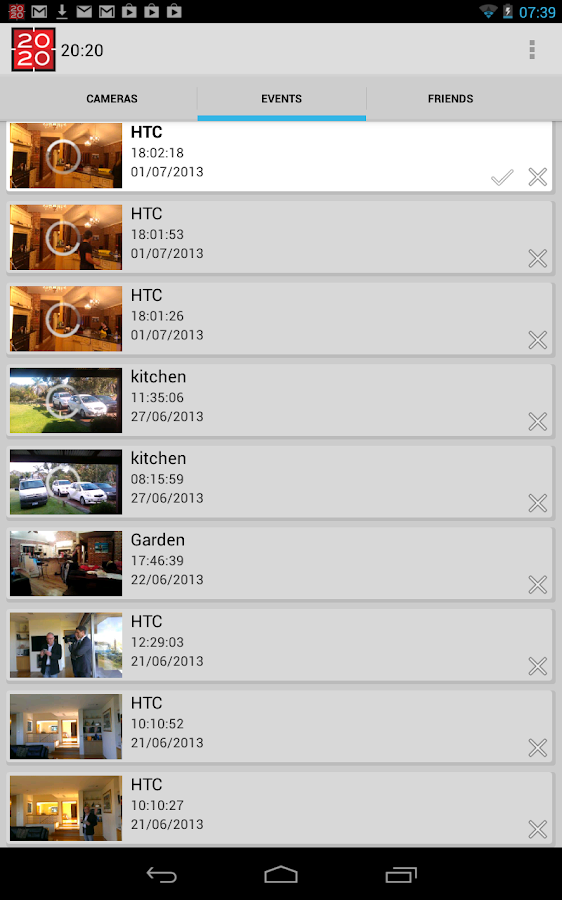Security Camera Alarm System - screenshot