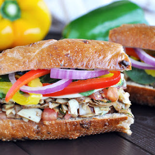 Italian Herb Vegetable Sandwich with Provolone Cheese