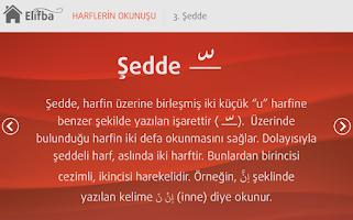 Screenshot of Tecvidli Kuran Elifbası