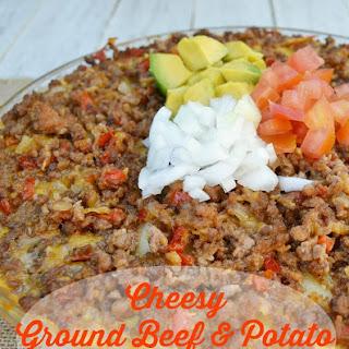 Cheesy Ground Beef and Potato Casserole.