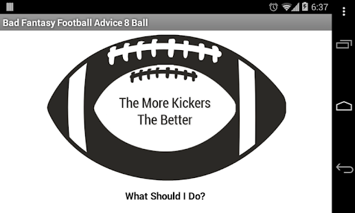 BadFantasyFootballAdvice8Ball - screenshot thumbnail