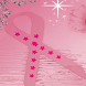 Rippling Breast Cancer Ribbon
