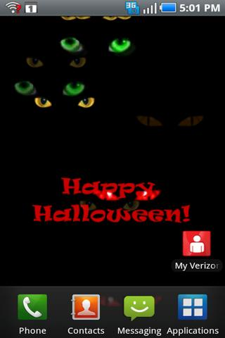 Halloween Eyes Live Wallpaper - screenshot