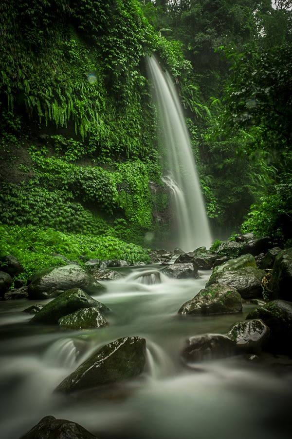 Sendang Gile Waterfall at Lombok Island by Leo Ramli - Landscapes Waterscapes ( relax, tranquil, relaxing, tranquility,  )