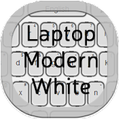 Laptop Keyboard Modern White