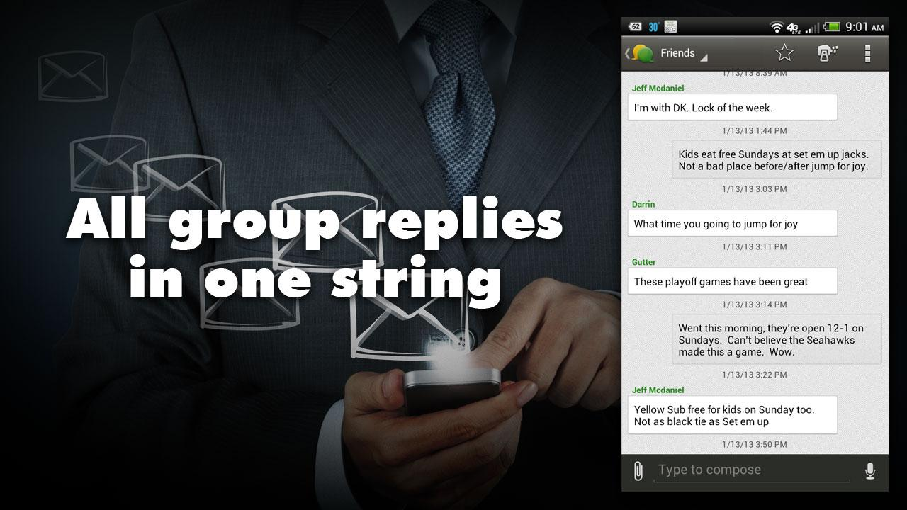 Group Texting + Text Messaging - screenshot