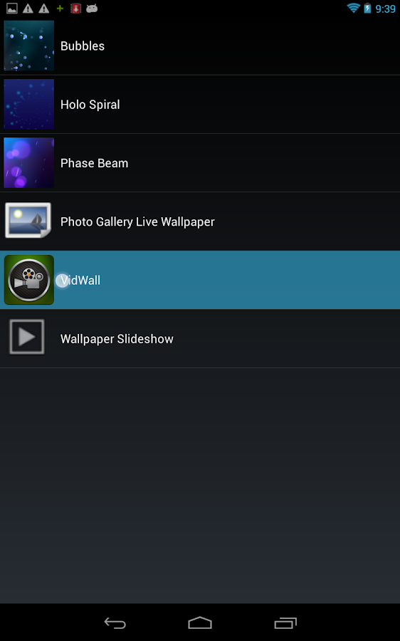 VidWall - Video Live Wallpaper - screenshot