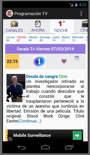 Programación TV Guía TV - screenshot