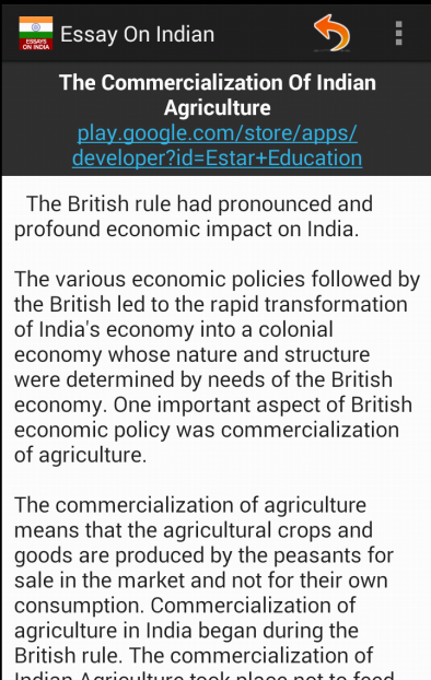 Essay On India  Android Apps On Google Play Essay On India Screenshot