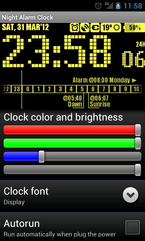 Night Alarm Clock- screenshot
