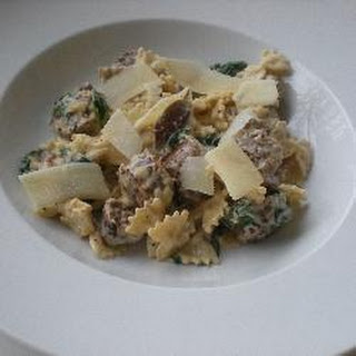 Creamy Pasta with Sausage and Spinach Recipe