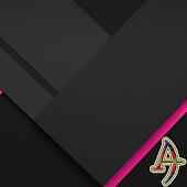 XZ Lollipop Theme PinkOnBlack