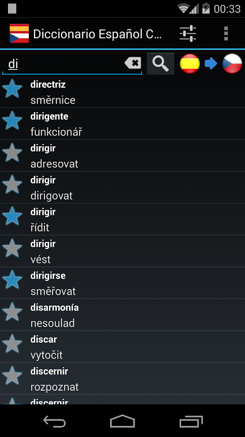 Spanish Czech Dictionary- screenshot