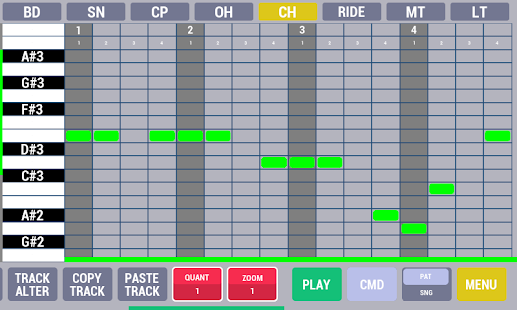 Cadeli drum machine free - screenshot thumbnail