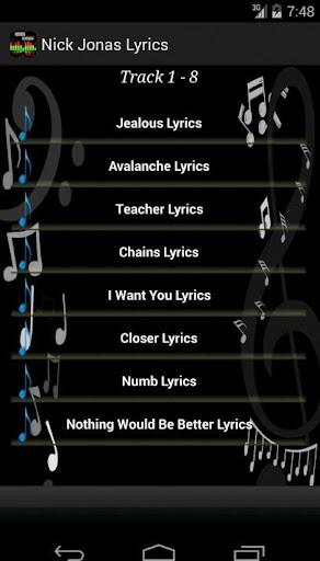 玩音樂App|Nick Jonas Lyrics免費|APP試玩