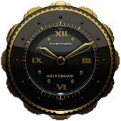 Dragon Clock Widget gold
