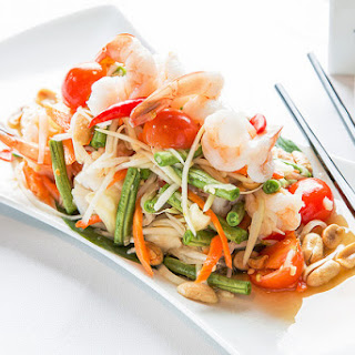 Thai Green Papaya Salad with Shrimp.