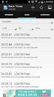 Screenshot of MySwimmingTimes