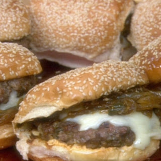 Latin Burgers with Caramelised Onion and Jalapeno Relish and Red Pepper Mayonnaise Recipe