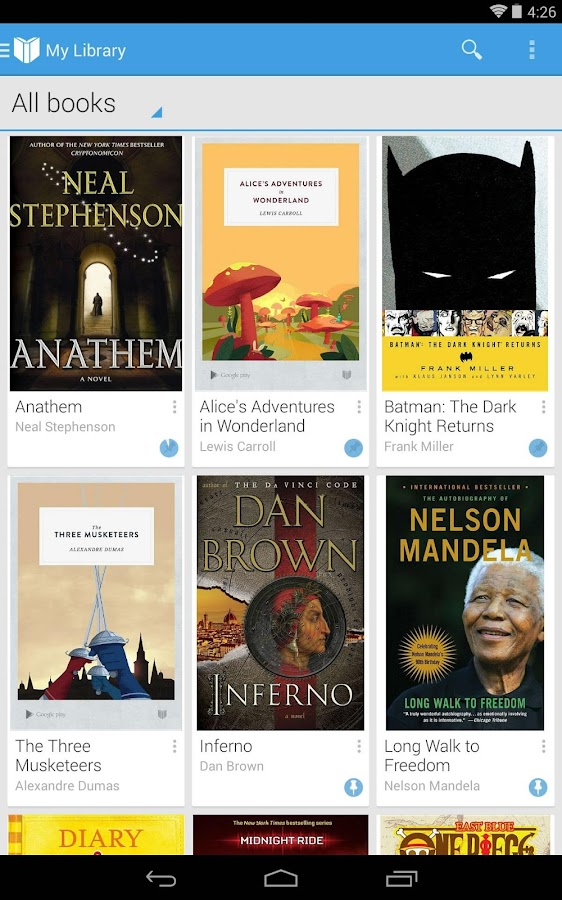 Google Play Books - screenshot