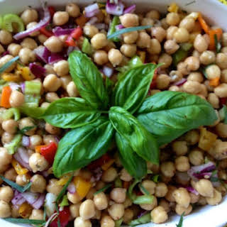 Chickpea Salad with Fresh Herbs.