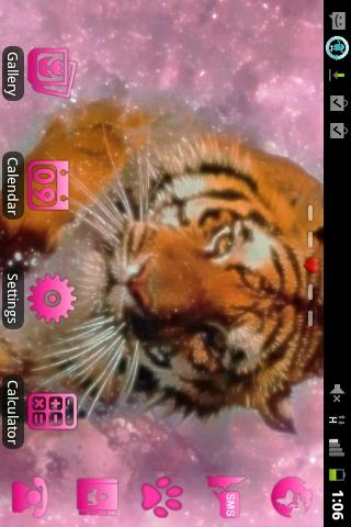 Pink Tiger Theme GO Launcher - screenshot