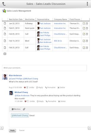 kintone screenshot for Android