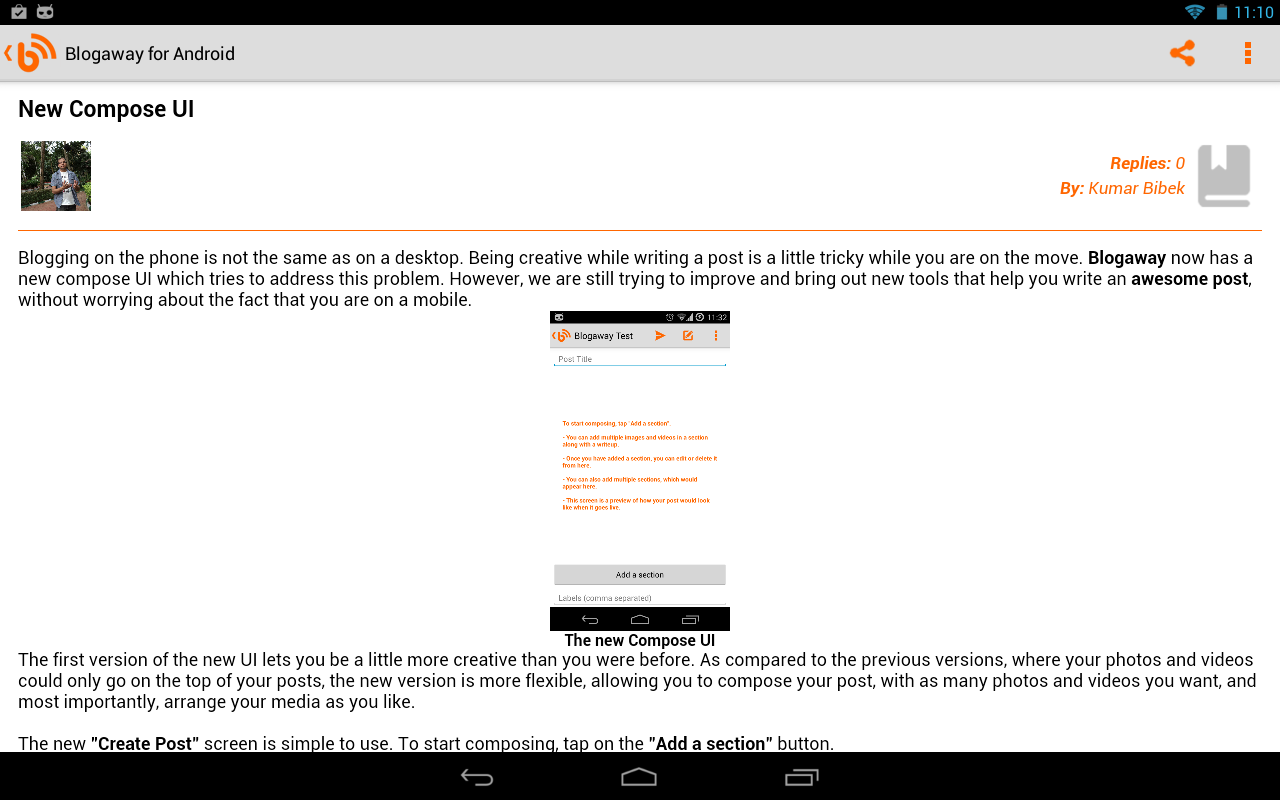 Blogaway Pro (Blogger)- screenshot